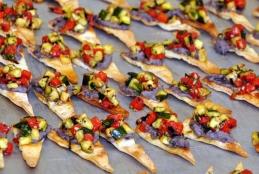 Bruschettas de courgettes sur pain pita