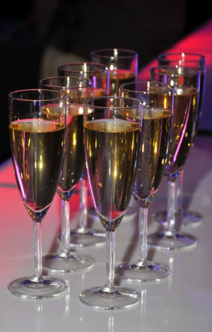 Champagne servi au début de la soirée